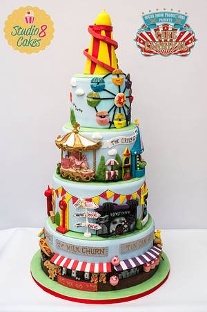 The Fairground  - Cake by studio8cakes
