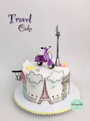 Parisian Cake - Torta Paris - Cake by Dulcepastel.com