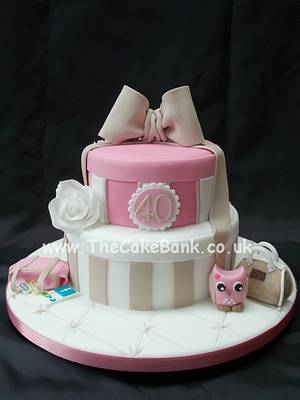 Hat boxes - Cake by The Cake Bank