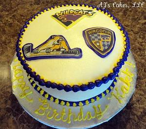 Sports Logo Cake - Cake by Amanda Reinsbach