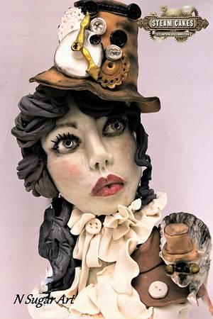 Stempunk Lady -Stem Cakes Collaboration - Cake by N SUGAR ART