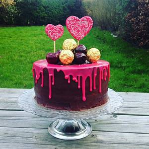 Triple Chocolate Drip Anniversary Cake  - Cake by Pbpinks