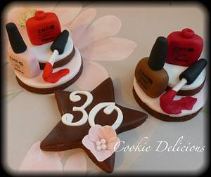 Shellac Nail Polish Cookies - Cake by Cookie Delicious