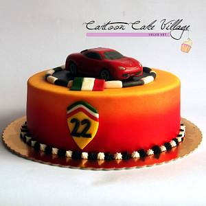 Ferrari - Cake by Eliana Cardone - Cartoon Cake Village