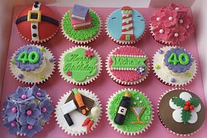 """""""everything but the kitchen sink"""" cupcakes :) - Cake by Elaine's Cheerful Colourful Cupcakes"""