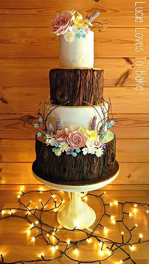Enchanted Forest Wedding Cake - Cake by LucieLovesToBake
