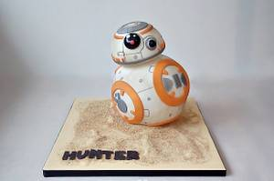 BB8! - Cake by Dream Cakes by Robyn