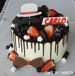 Drip cake for Carlo - Cake by MartaMc