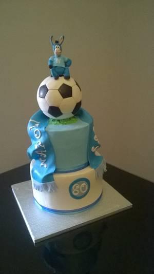 Napoli football cake - Cake by Gabriella Luongo