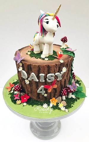 Woodlands Unicorn Birthday Cake  - Cake by The Rosehip Bakery