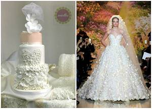 Zuhair Murad inspired - A Fairytale Wedding Cake - Cake by miettes