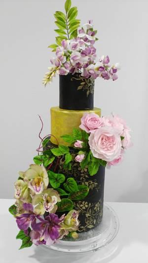 The World of Sugar Flowers Tribute  - Cake by Catalina Anghel azúcar'arte