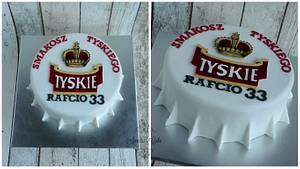 Tyskie bottle cap cake - Cake by Aurelia's Cake