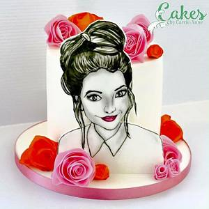Hand painted Zoella - Cake by Carrie-Anne Dallas