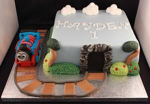 Thomas The Tank Engine Cake - Cake by SweetSensationsLancs