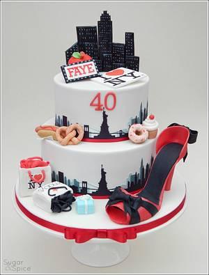 A New York 40th ... - Cake by Sugargourmande Lou