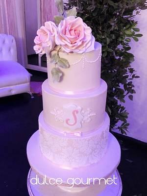 15th birthday vintage cake - Cake by Silvia Caballero
