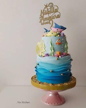 Baby Shark (Pink Fong) Cake - Cake by Nikita Mahmood