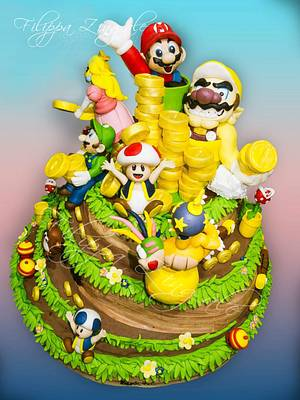 The super Mario gang - Cake by filippa zingale