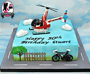 Helicopter themed cake - Cake by Sensational Sugar Art by Sarah Lou