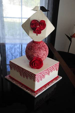 Wedding cake - Cake by The Bistro Cake Designer
