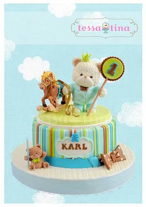 Bear Prince - Cake by tessatinacakes