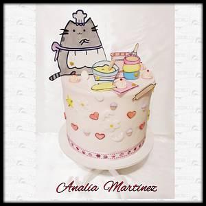 Pusheen Let's Bake  - Cake by Analía Martínez