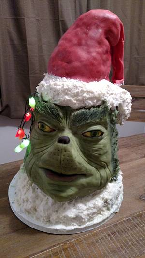 Grinch cake - Cake by Bella Noche Cakes