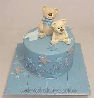 Teddy Bear 1st Birthday Cake - Cake by Custom Cake Designs