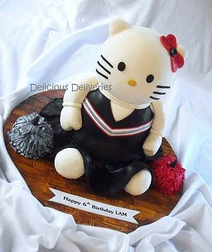 Hello Kitty Cheerleader - Cake by DeliciousDeliveries