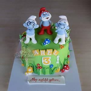 Smurfs Cake - Cake by Evren Dagdeviren