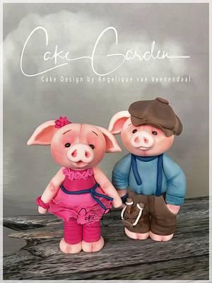 Piggy caketoppers - Cake by Cake Garden