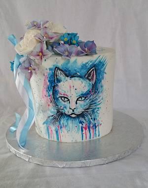 Blue cat - Cake by alenascakes
