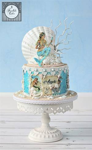 Vintage mermaid cake - Cake by Tamara