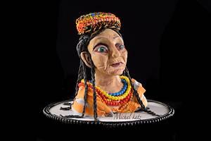 old kalash pakistan lady - Cake by michal katz