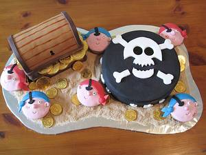 Pirates Treasure Chest! - Cake by Paul James