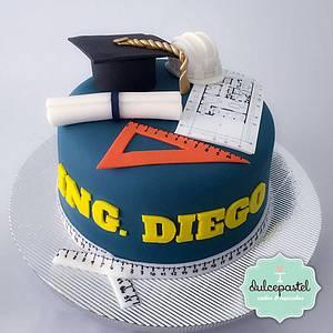 Torta Graduación de Ingenieros - Cake by Dulcepastel.com