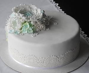 White elegance - Cake by MartaMc
