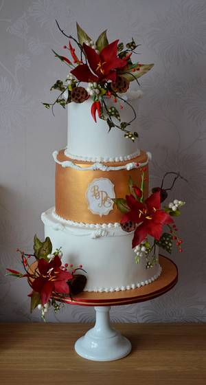 Winter Wedding Cake - Cake by The Sweet Suite