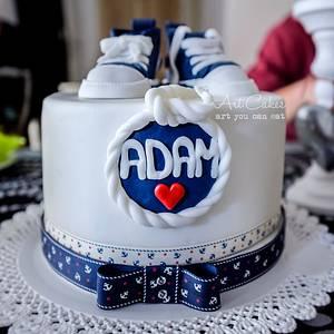 Adam's Christening Cake - Cake by Art Bakin'