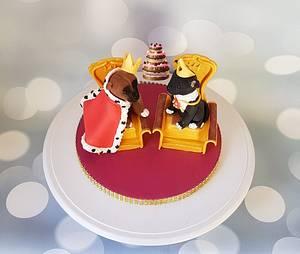 Royal Staffordshire bullterriërs - Cake by Pluympjescake