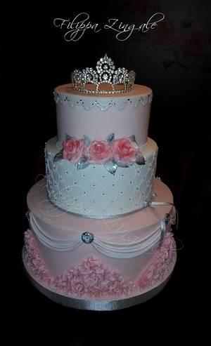 Elegant princess pink - Cake by filippa zingale