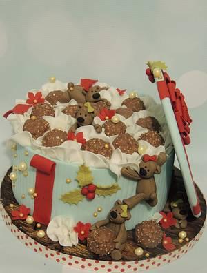 Teddy Beas & Chocolates - Cake by Shereen