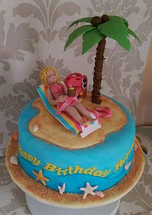 Sunbathing - A cake for a Beach Lover - Cake by MySugarFairyCakes