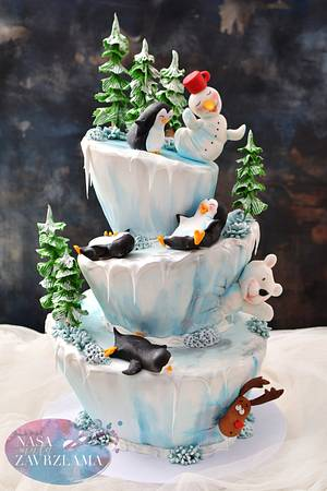 Funny Winter Cake - Cake by Nasa Mala Zavrzlama