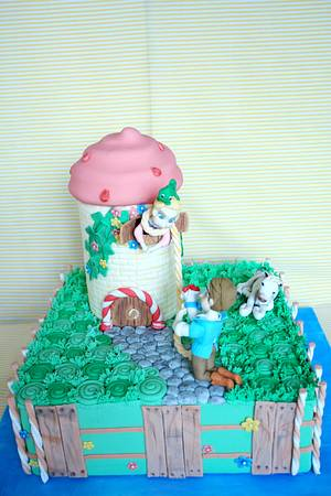 Rapunzel in icecream castle - Cake by fantasticake by mihyun