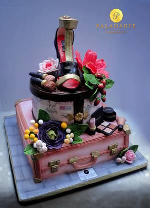 suitcases fancy cake - Cake by Paladarte El Salvador