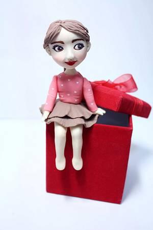 Valentine girl - Cake by fantasticake by mihyun