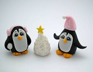 Winter Wonderland Christmas Toppers - Cake by Prettytemptations