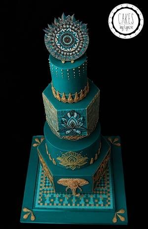 Indian Wedding Cake - Cake by Cakes by Lynzie
